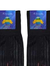 جوراب مردانه گل نرگس مدل ZTM1 رنگ مشکی -  - 3