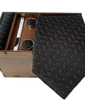 ست کراوات و دستمال جیب و دکمه سر دست مردانه کد 435 -  - 1