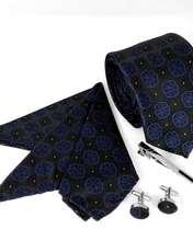 ست کراوات و دستمال جیب و دکمه سر دست مردانه کد 438 -  - 4