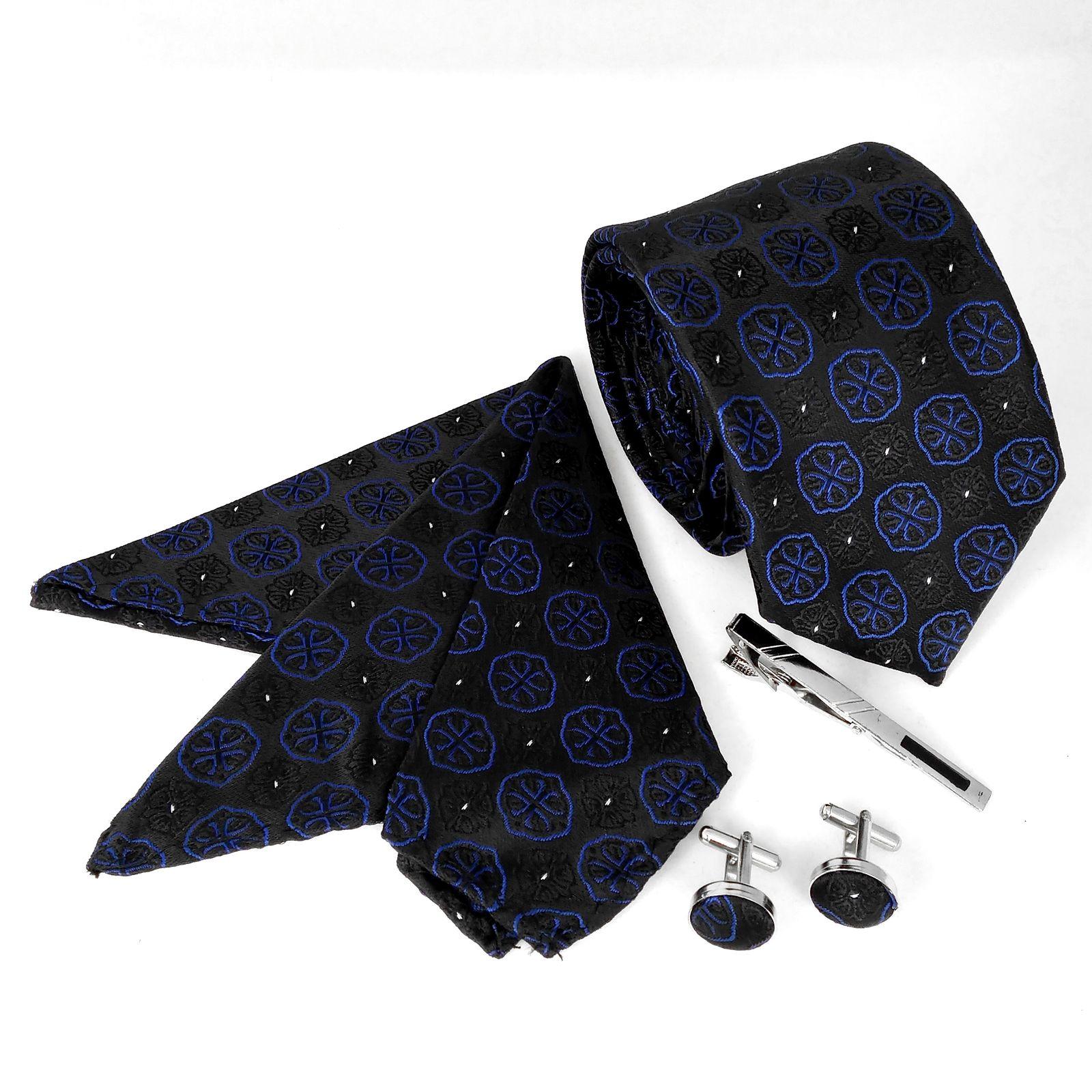 ست کراوات و دستمال جیب و دکمه سر دست مردانه کد 438 -  - 5
