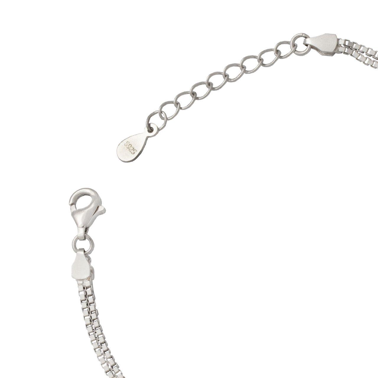 دستبند نقره زنانه کد 406 -  - 4