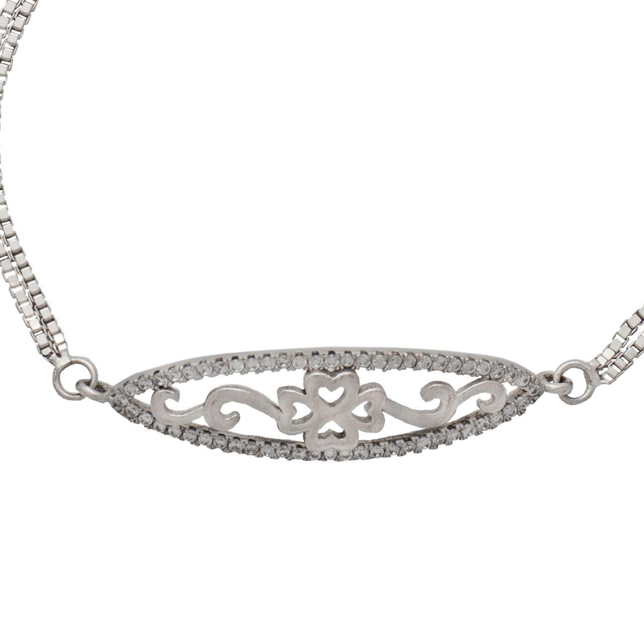 دستبند نقره زنانه کد 406 -  - 3