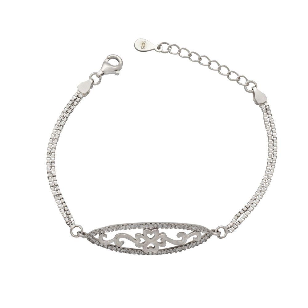 دستبند نقره زنانه کد 406