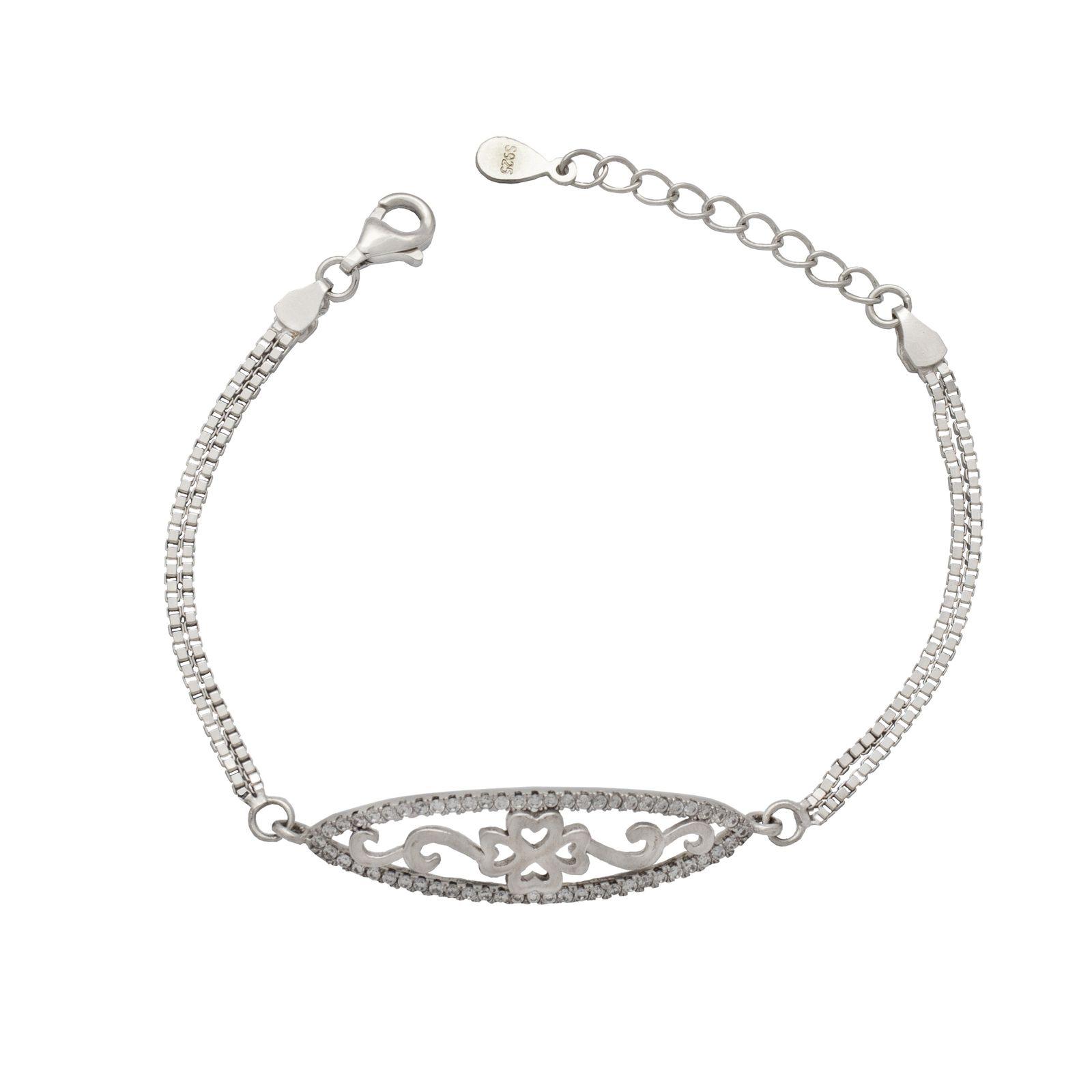 دستبند نقره زنانه کد 406 -  - 2