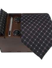 ست کراوات و دستمال جیب و دکمه سر دست مردانه کد 434 -  - 1