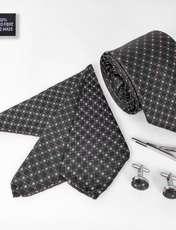 ست کراوات و دستمال جیب و دکمه سر دست مردانه کد 434 -  - 2