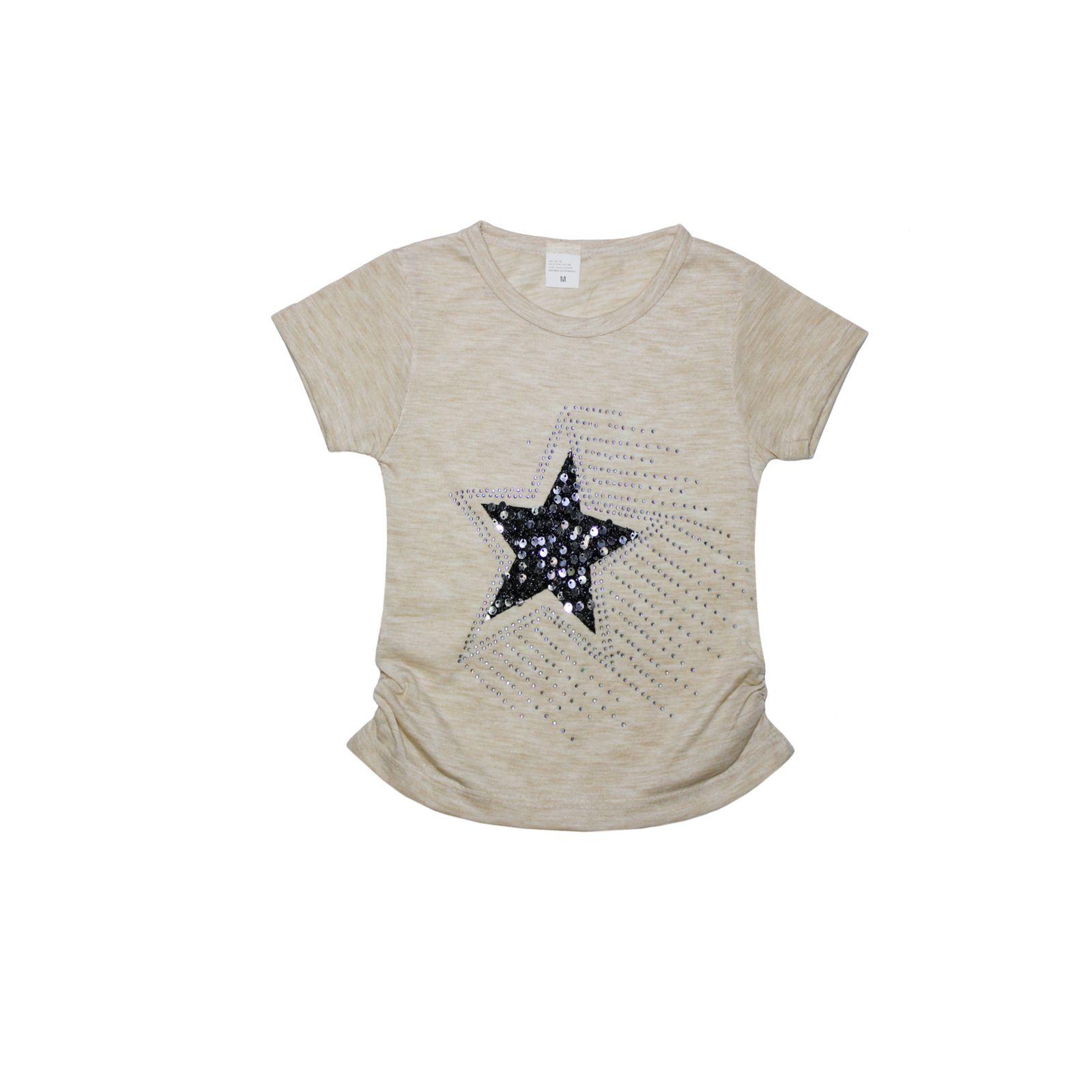 ست تیشرت و شلوارک دخترانه طرح ستاره کد ۱۳۶۱ -  - 4