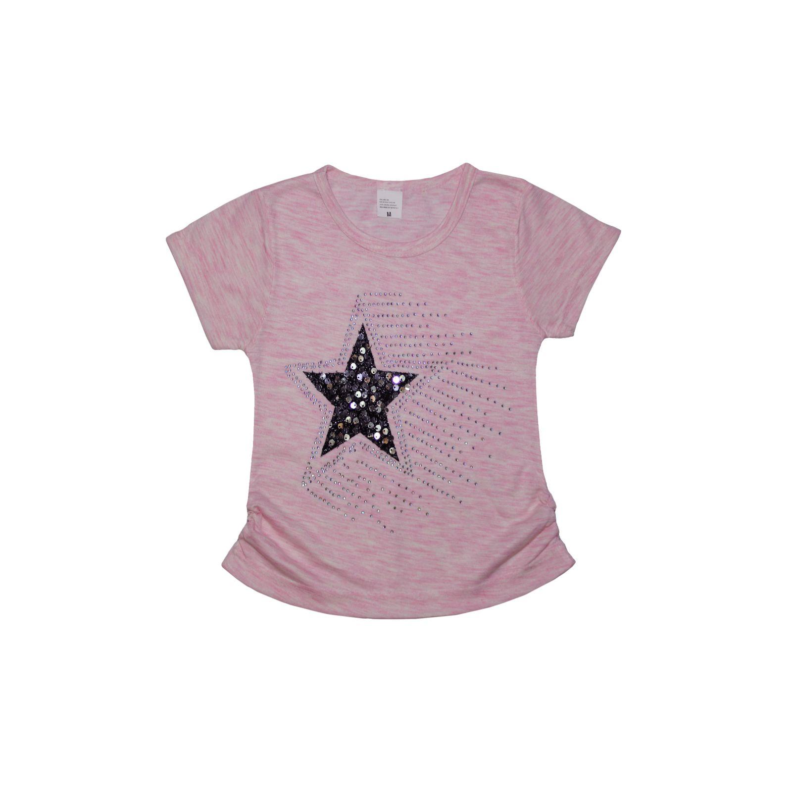ست تیشرت و شلوارک دخترانه طرح ستاره کد ۱۳۶۲ -  - 4