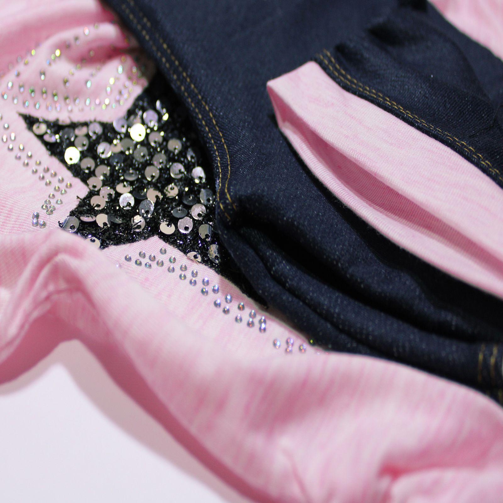 ست تیشرت و شلوارک دخترانه طرح ستاره کد ۱۳۶۲ -  - 3