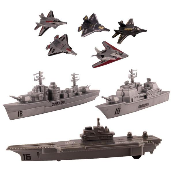 ناو هواپیمابر اسباب بازی جی ائوجیتای مدل T064 مجموعه 8 عددی