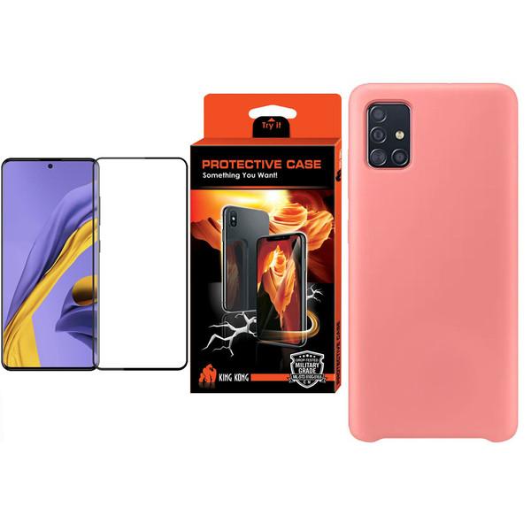کاور کینگ کونگ مدل SLCN مناسب برای گوشی موبایل سامسونگ Galaxy A51 به همراه محافظ صفحه نمایش