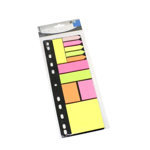 کاغذ یادداشت چسب دار اینفو مدل 09-8748 مجموعه 275 عددی