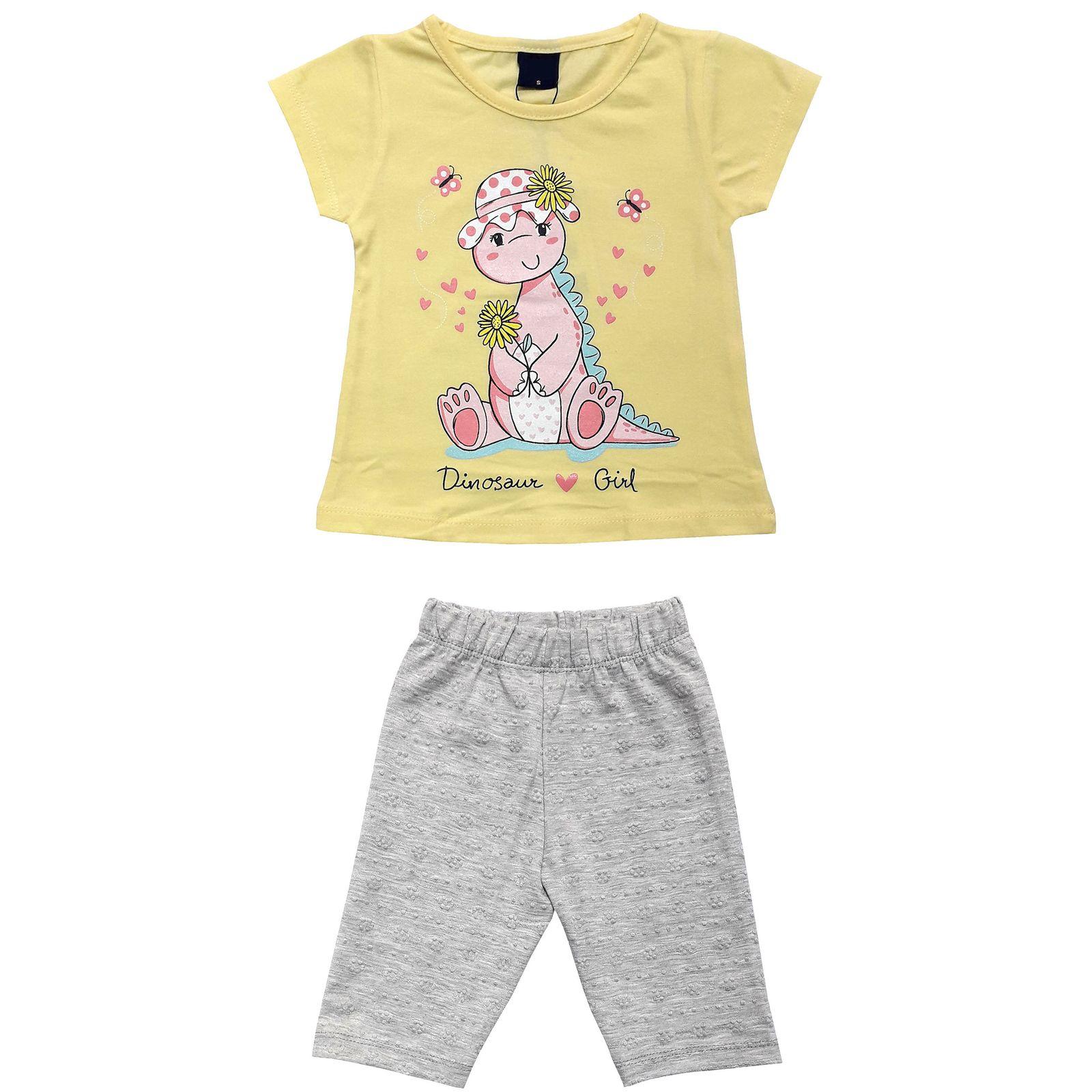 ست تی شرت و شلوارک دخترانه کد 7787911 -  - 3