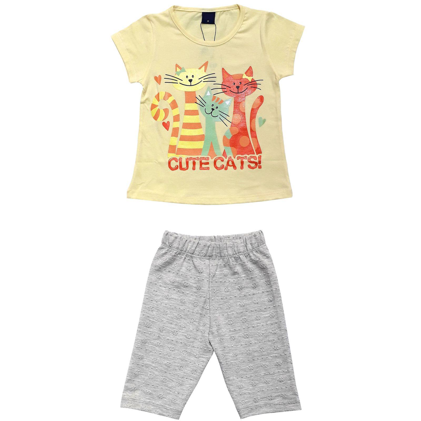 ست تی شرت و شلوارک دخترانه کد 7787921 -  - 3