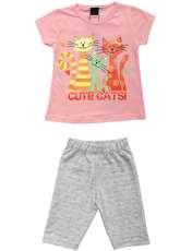 ست تی شرت و شلوارک دخترانه کد 7787923 -  - 2