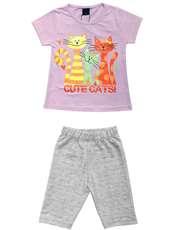 ست تی شرت و شلوارک دخترانه کد 7787924 -  - 1