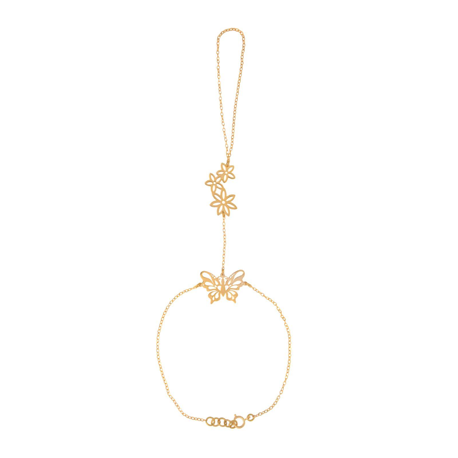 دستبند طلا 18 عیار زنانه کد 67030 -  - 2