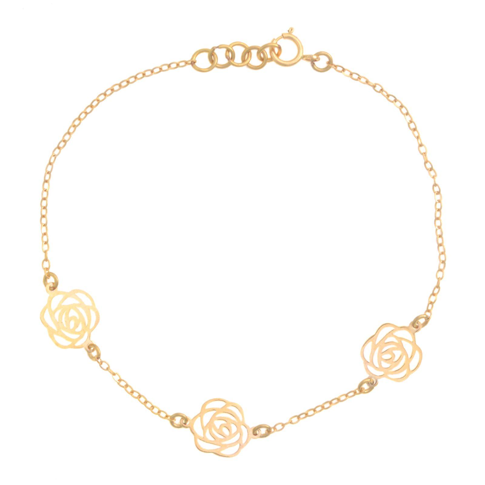 دستبند طلا 18 عیار زنانه کد 67031 -  - 2