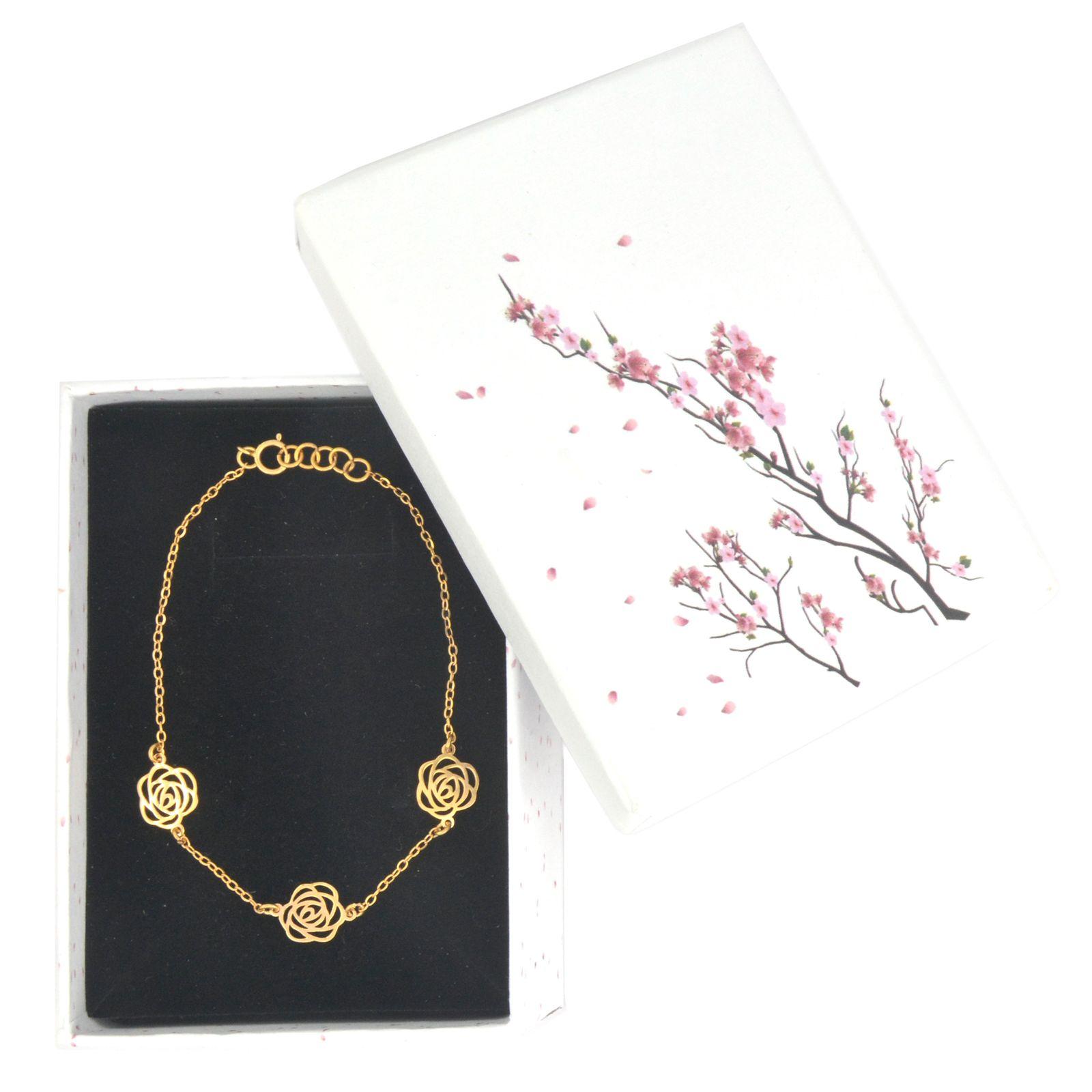 دستبند طلا 18 عیار زنانه کد 67031 -  - 3