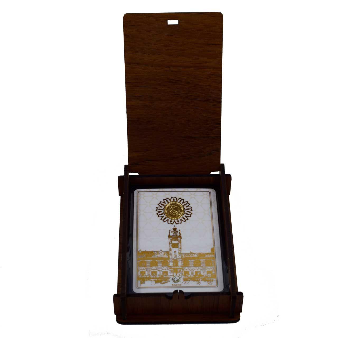طلا گرمی 18 عیار کانیار گالری طرح عمارت شهرداری رشت کد 46 -  - 7
