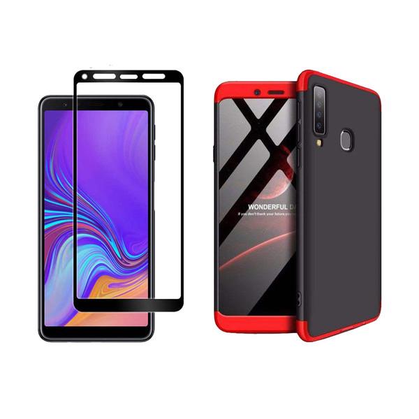 کاور 360 درجه لمبر مدل LAMGK-FULL مناسب برای گوشی موبایل سامسونگ Galaxy A9 2018 به همراه محافظ صفحه نمایش