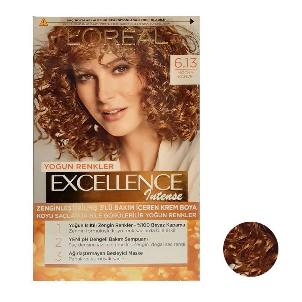 کیت رنگ مو لورآل سری Excellence شماره 6.13 حجم 48 میلی لیتر رنگ مسی
