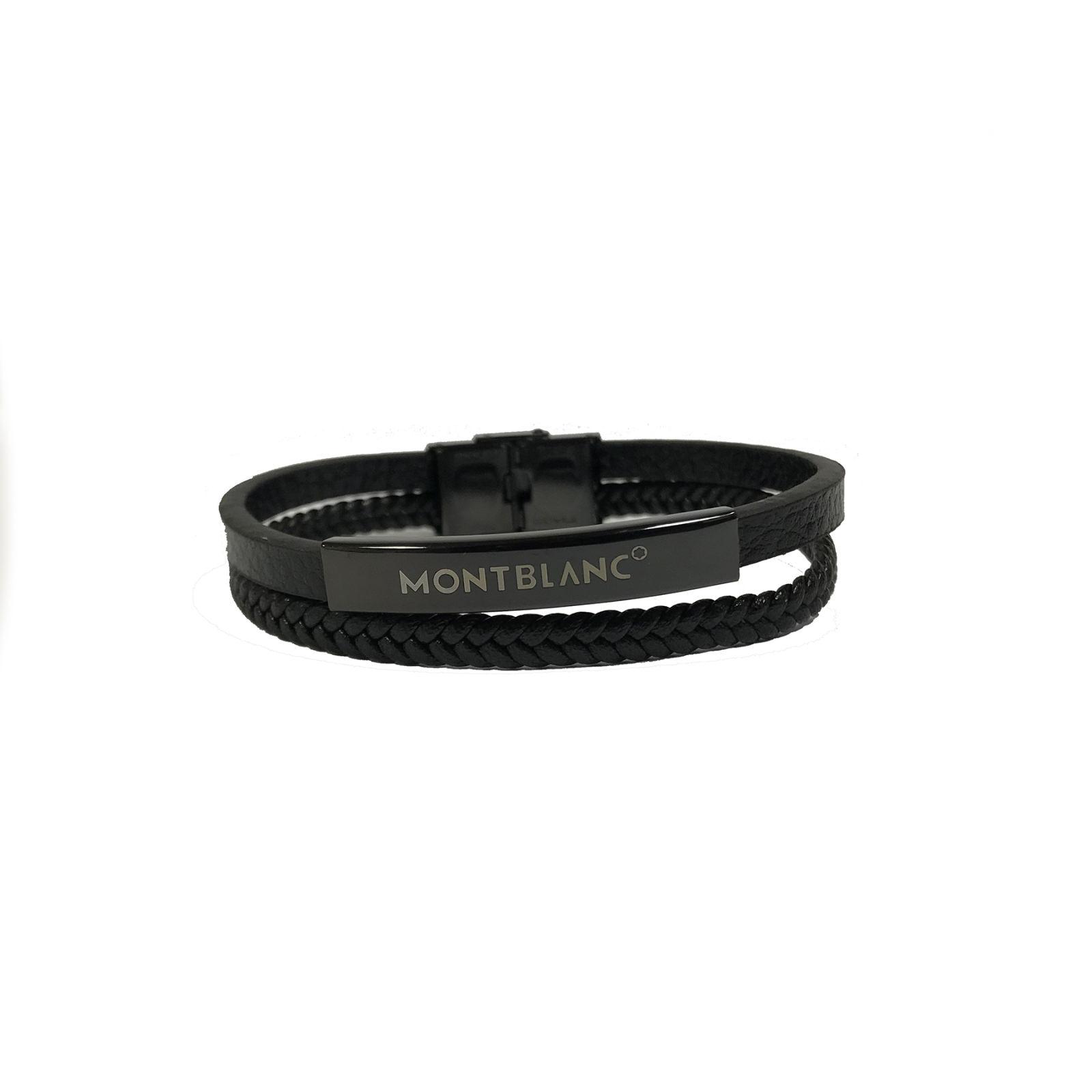 دستبند مردانه مون بلان  مدل 102 -  - 3
