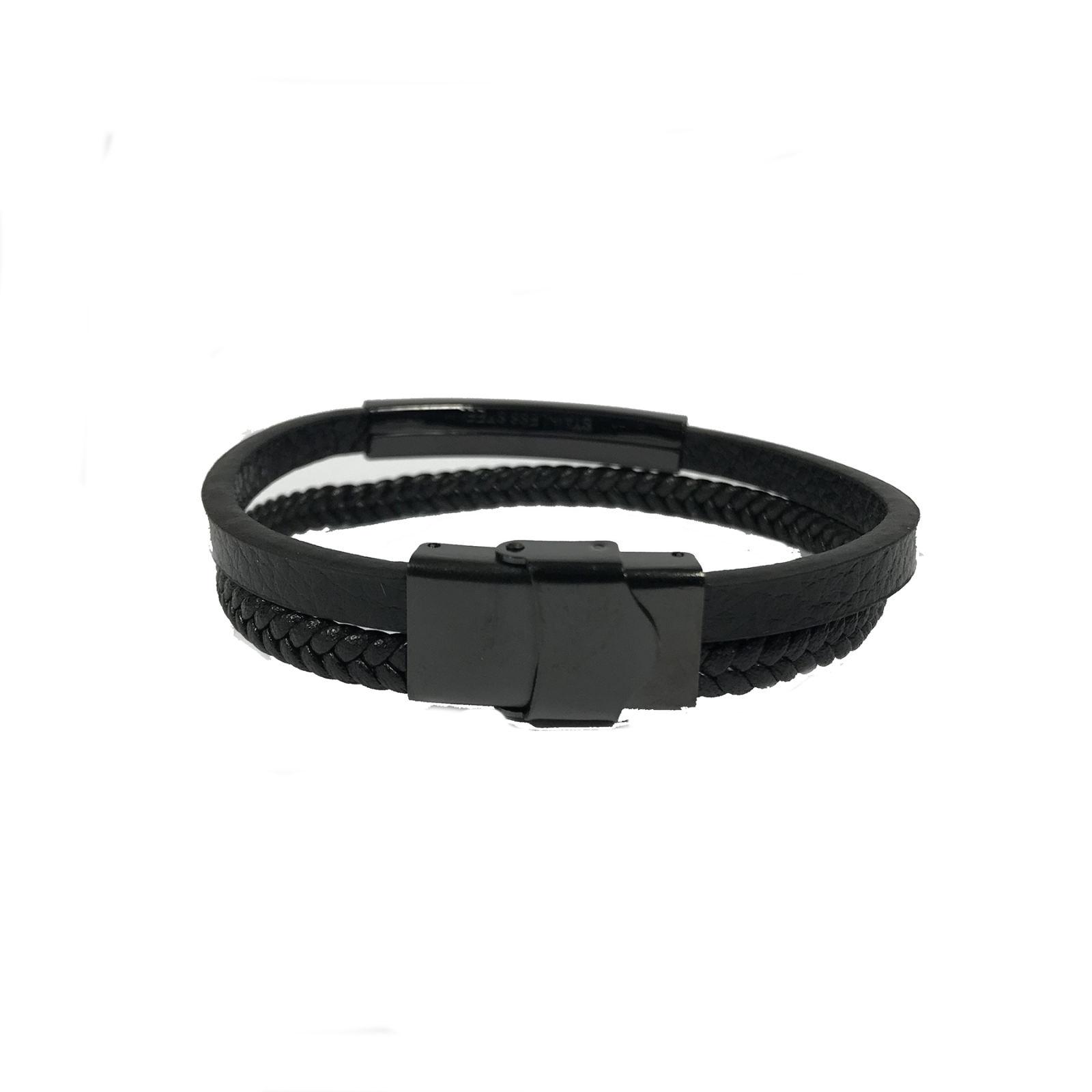 دستبند مردانه مون بلان  مدل 102 -  - 5