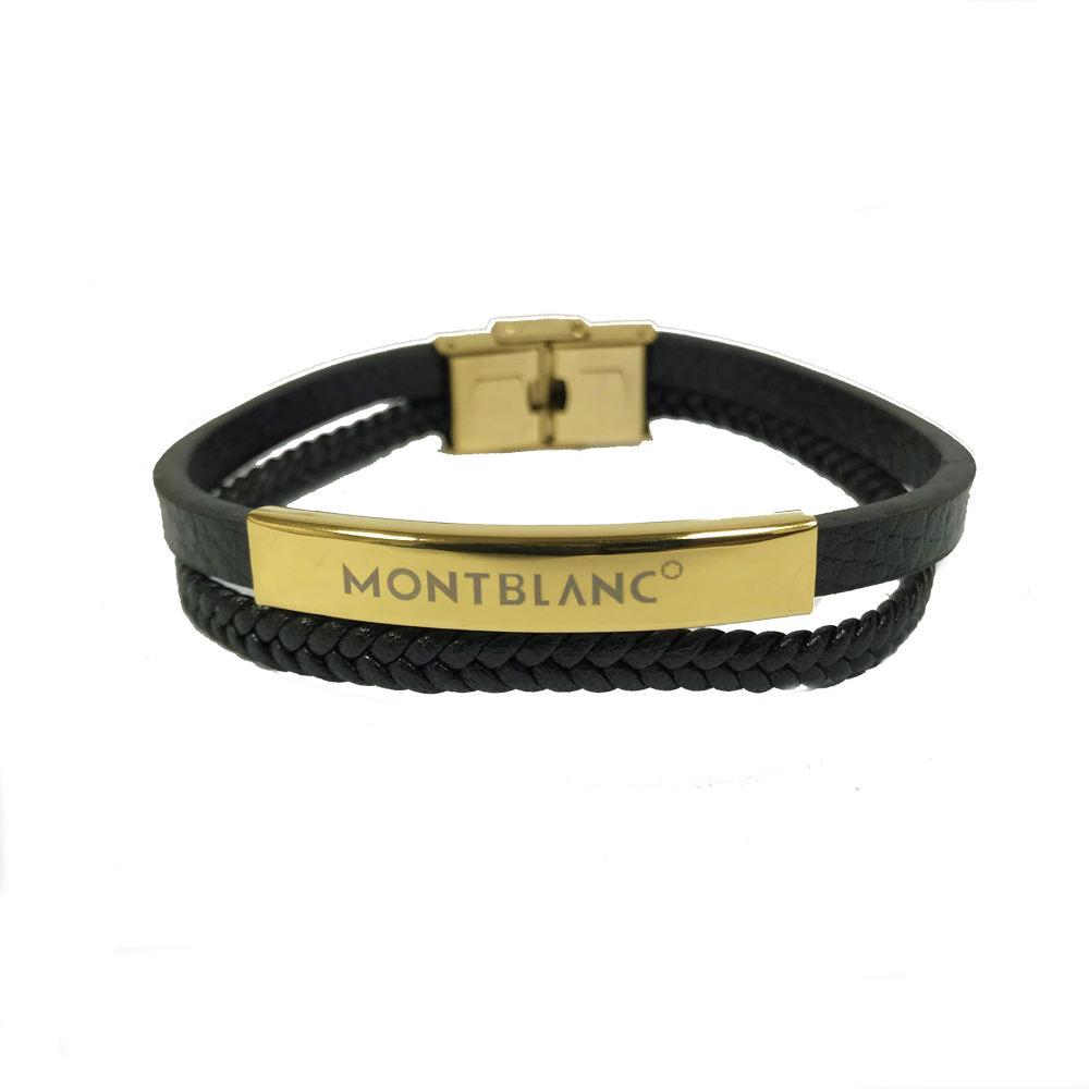 دستبند مردانه مون بلان  مدل 102