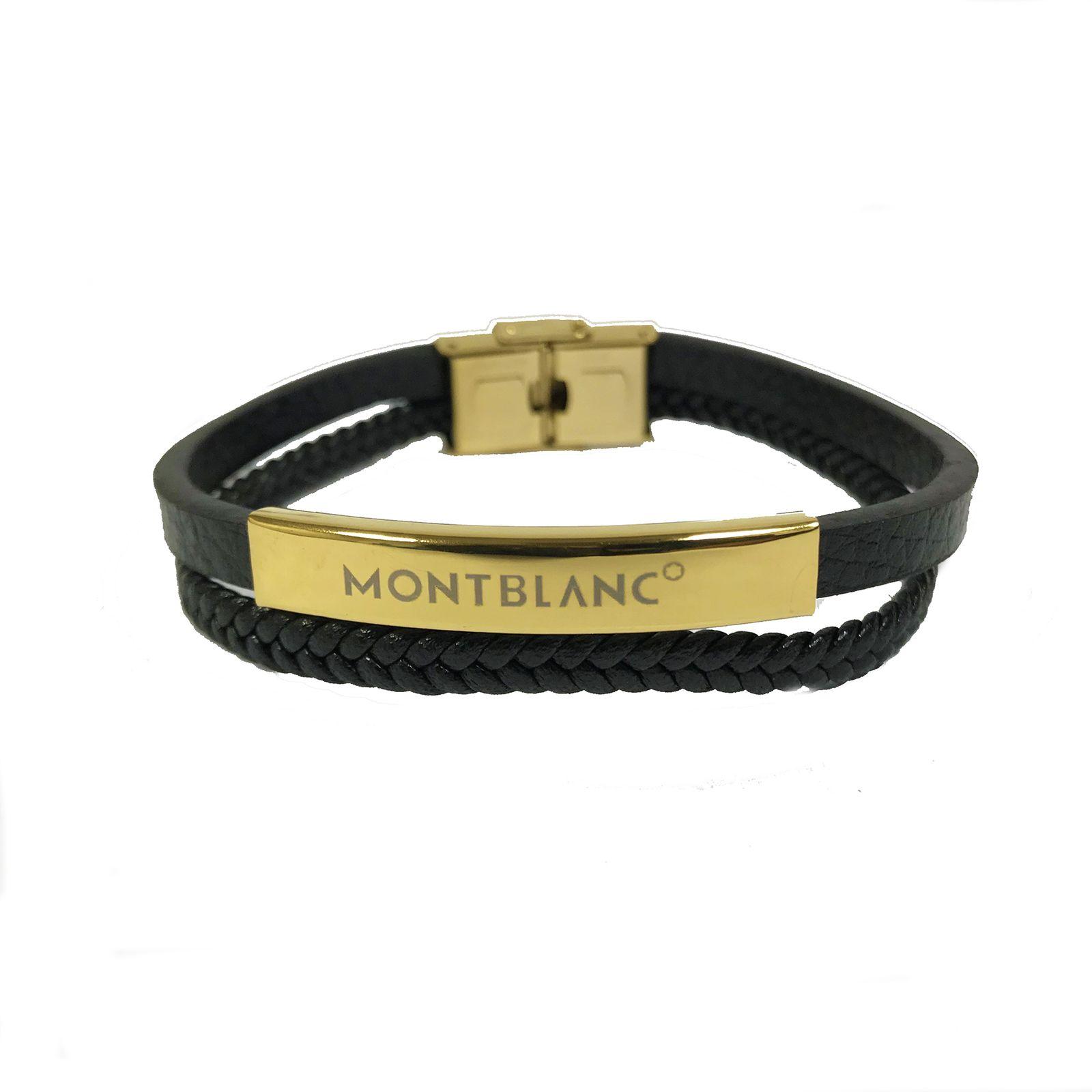 دستبند مردانه مون بلان  مدل 102 -  - 2