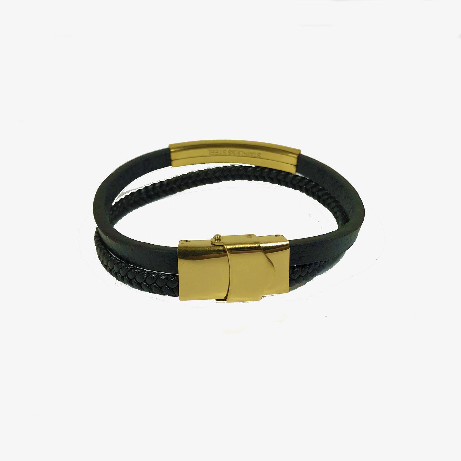 دستبند مردانه مون بلان  مدل 102 -  - 6