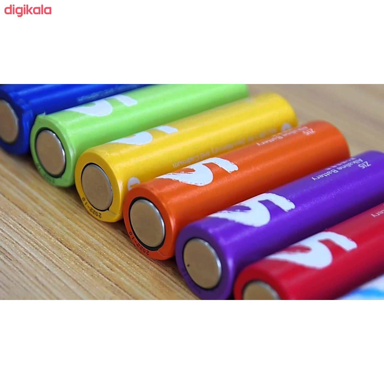 باتری قلمی و نیم قلمی آلکالاین شیاومی مدل ZI5  و ZI7 بسته 20 عددی main 1 15