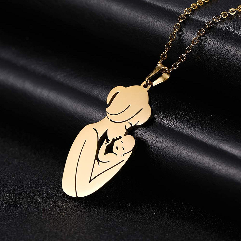 گردنبند نقره زنانه ترمه 1 طرح مادر کد A-623 -  - 4