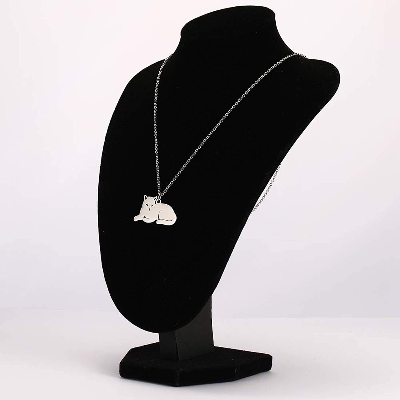 گردنبند نقره زنانه ترمه 1 طرح گربه کد A-628 -  - 3