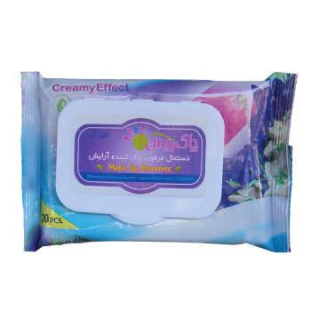 دستمال مرطوب پاک کننده آرایش ریس مدل TAYSIZ بسته 20 عددی