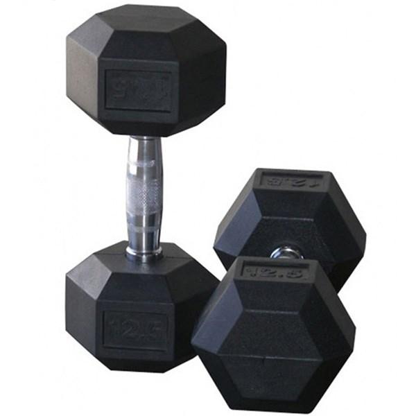 دمبل مدل Hexagonal وزن 12.5 کیلوگرم بسته 2 عددی
