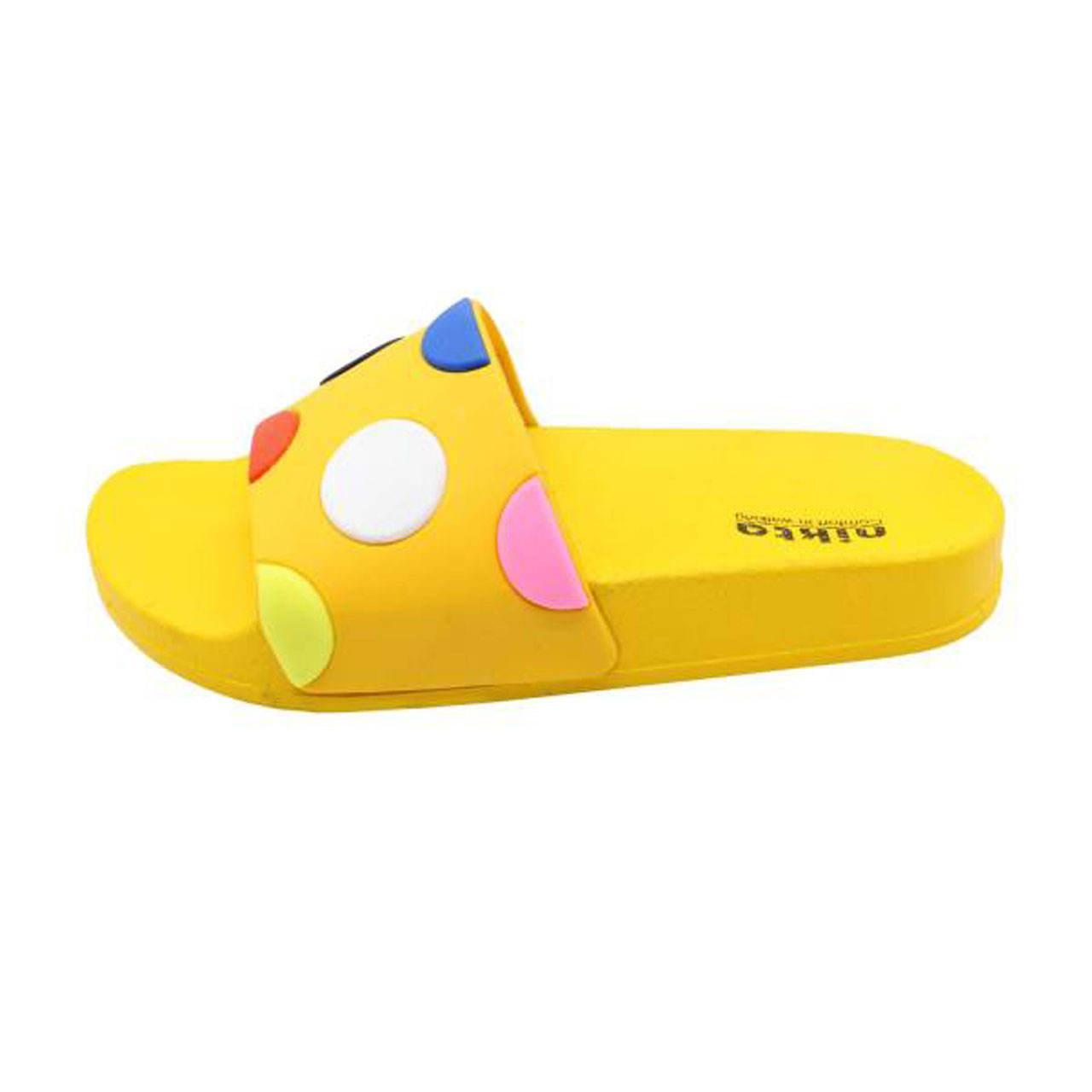 دمپایی دخترانه نیکتا مدل 304 کد L1-EsmarT10 رنگ زرد -  - 2