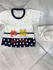 ست تی شرت و شورت نوزادی دخترانه مدل A&S7173 -  - 2