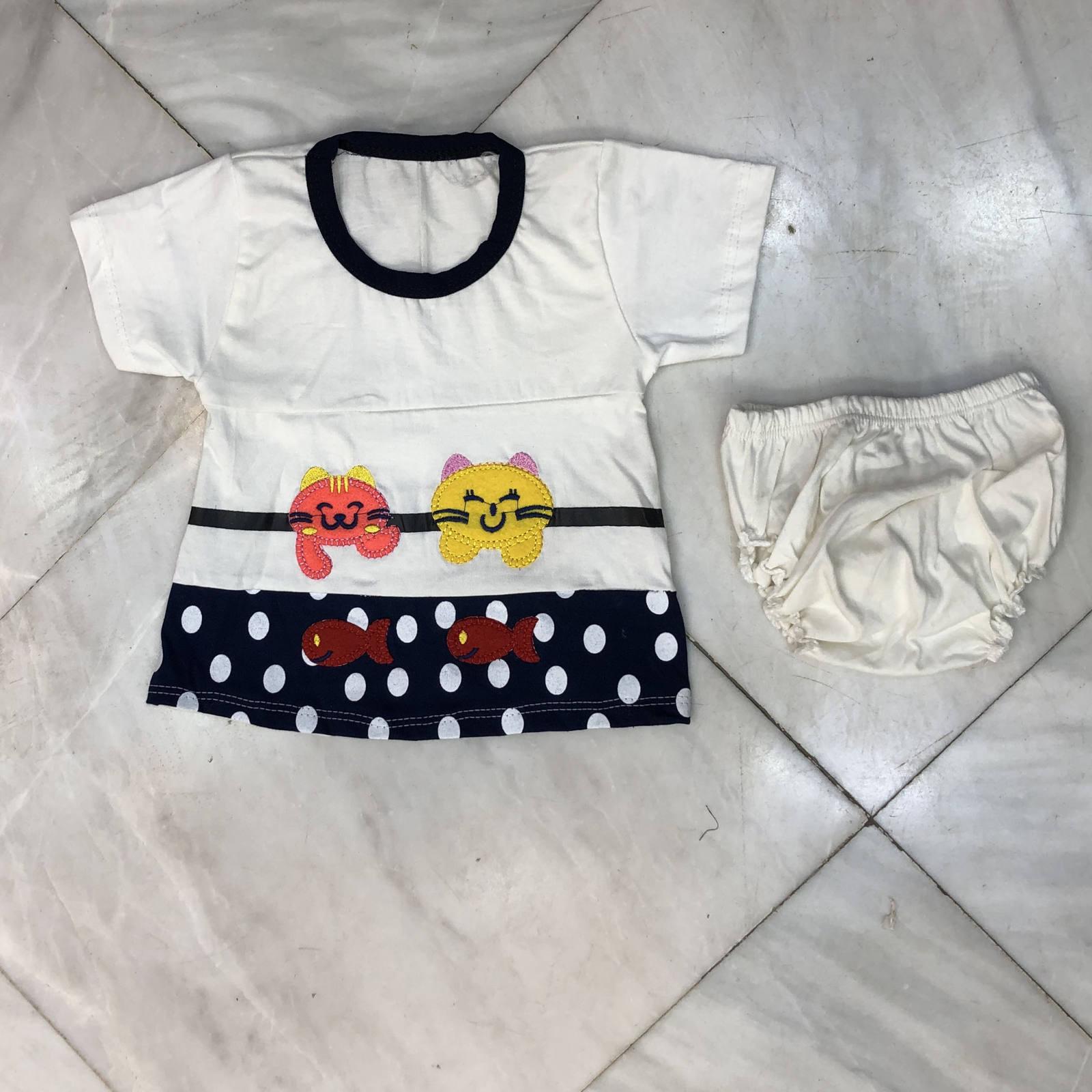 ست تی شرت و شورت نوزادی دخترانه مدل A&S7173 -  - 3