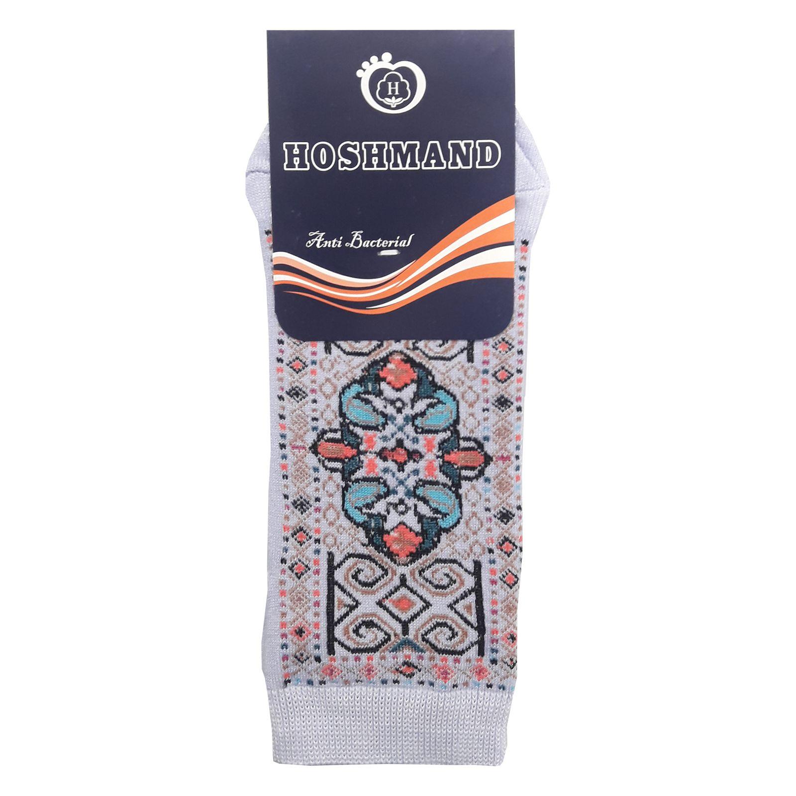 جوراب هوشمند طرح فرش کد C24 -  - 2