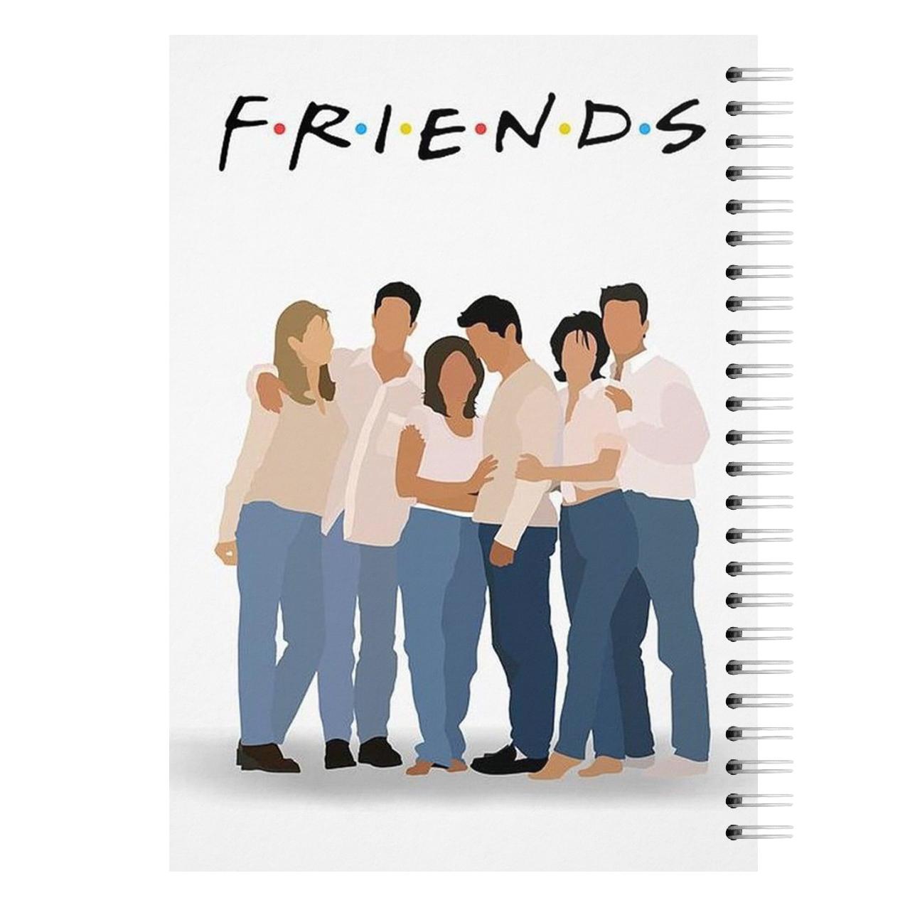 قیمت خرید دفتر 60 برگ مدل Friends مدل F2 اورجینال