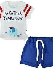 ست تیشرت و شلوارک نوزادی پوشیران کد 5511 -  - 1