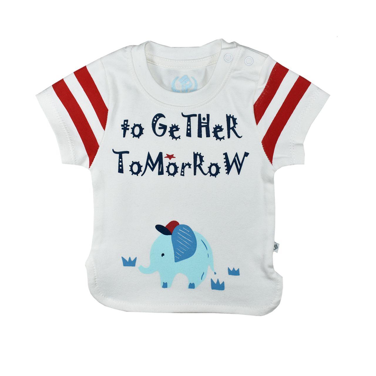 ست تیشرت و شلوارک نوزادی پوشیران کد 5511 -  - 7