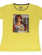 ست تیشرت و شلوارک دخترانه گلریز کد 99131 رنگ زرد -  - 2