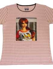 ست تیشرت و شلوارک دخترانه گلریز کد 99131 رنگ صورتی -  - 2