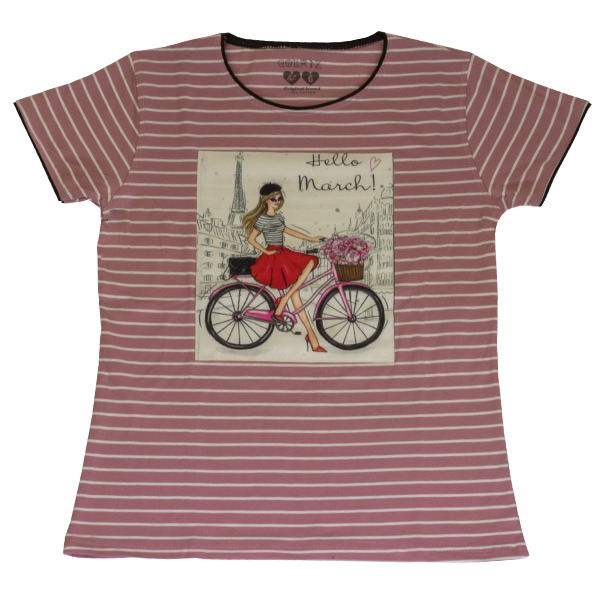 ست تیشرت و شلوارک دخترانه گلریز کد 99135 رنگ صورتی  -  - 3