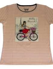 ست تیشرت و شلوارک دخترانه گلریز کد 99135 رنگ صورتی روشن -  - 2