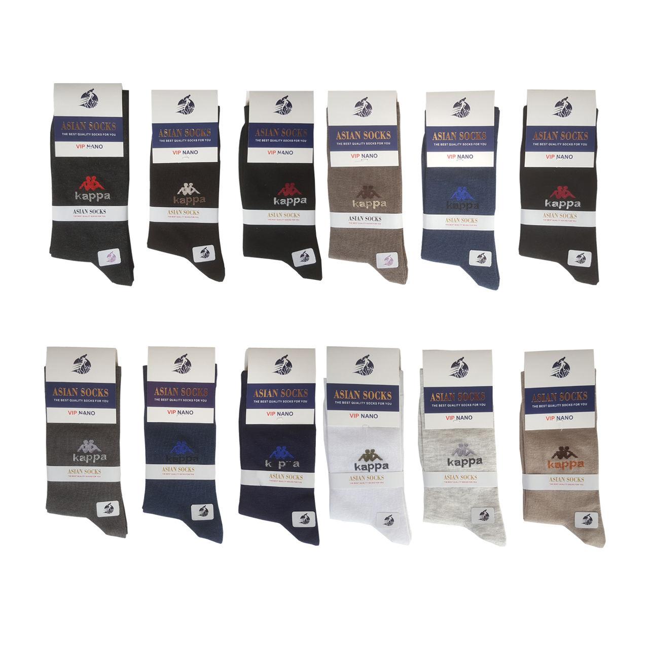 جوراب مردانه آسیان ساکس کد PH321 مجموعه 12 عددی -  - 3