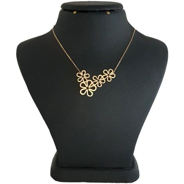گردنبند نقره زنانه طرح گل کد UN0029
