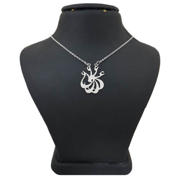 گردنبند نقره زنانه طرح عشق کد UN0032 -  - 2